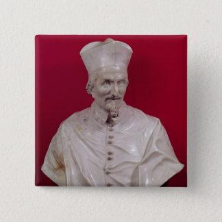Bust of Cardinal Francesco Barberini 15 Cm Square Badge