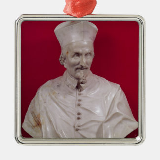 Bust of Cardinal Francesco Barberini Silver-Colored Square Decoration