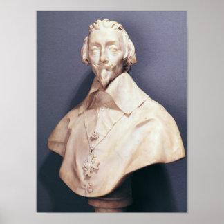 Bust of Cardinal Richelieu  c.1642 Poster