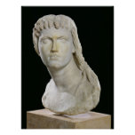 Bust of Cleopatra II or her daughter Poster