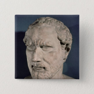 Bust of Demosthenes 15 Cm Square Badge