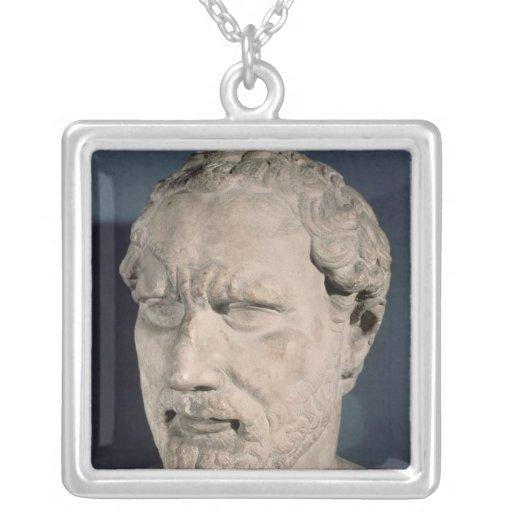 Bust of Demosthenes Custom Necklace