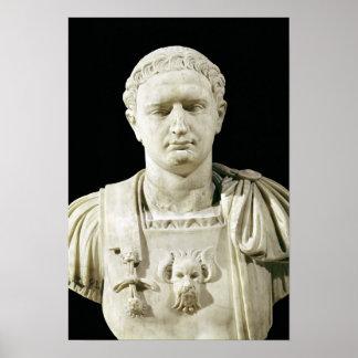 Bust of Emperor Domitian Poster
