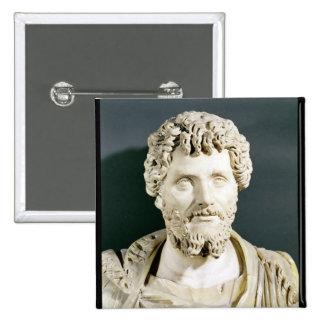 Bust of Emperor Septimus Severus 15 Cm Square Badge