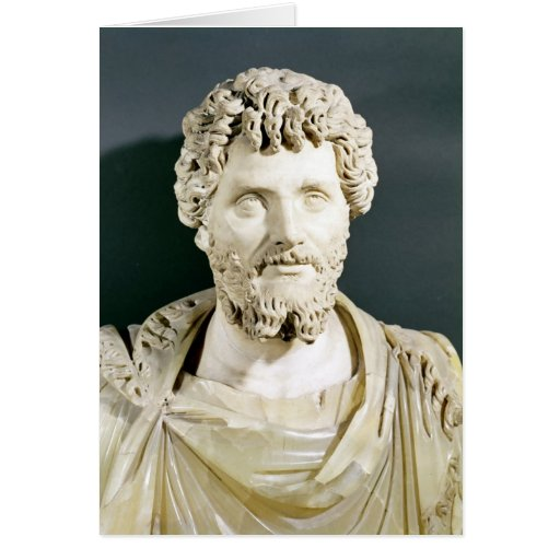 Bust of Emperor Septimus Severus Greeting Cards
