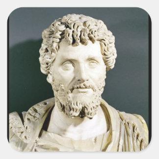 Bust of Emperor Septimus Severus Square Sticker
