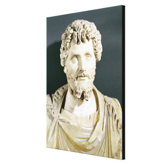 Bust of Emperor Septimus Severus Stretched Canvas Print