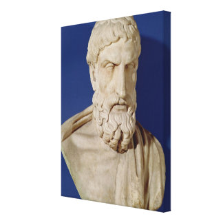 Bust of Epicurus Canvas Print