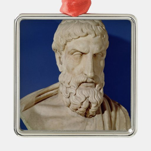 Bust of Epicurus Christmas Tree Ornament