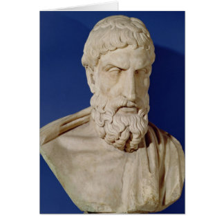 Bust of Epicurus Greeting Card