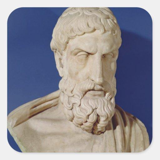 Bust of Epicurus Sticker