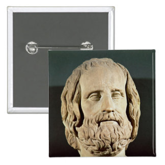 Bust of Euripides 15 Cm Square Badge
