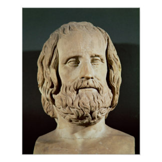 Bust of Euripides Print