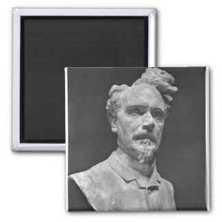 Bust of Henri Rochefort Square Magnet
