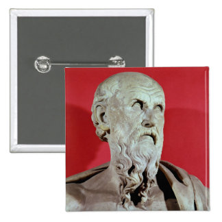 Bust of Hesiod 15 Cm Square Badge