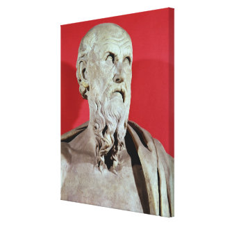 Bust of Hesiod Canvas Print