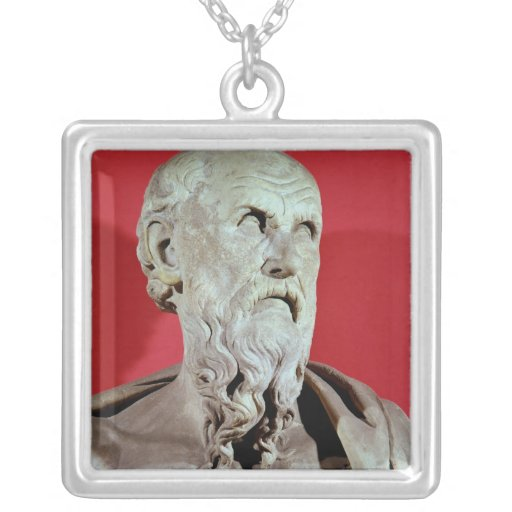 Bust of Hesiod Necklace