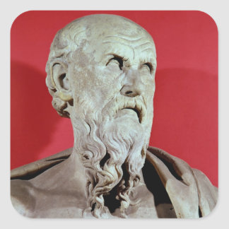 Bust of Hesiod Square Sticker