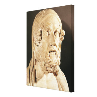 Bust of Homer, Hellenistic period Canvas Prints