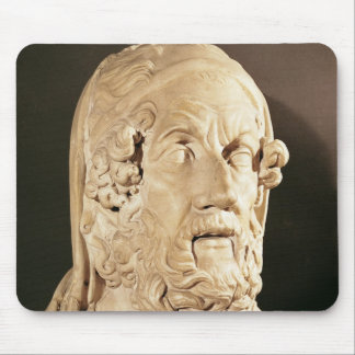 Bust of Homer, Hellenistic period Mouse Mat
