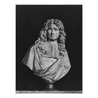 Bust of Jean-Baptiste Colbert de Torcy Print
