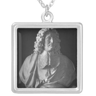 Bust of Jean-Baptiste Colbert de Torcy Silver Plated Necklace
