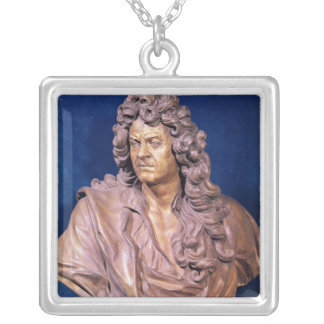 Bust of Jean Baptiste Lully Silver Plated Necklace