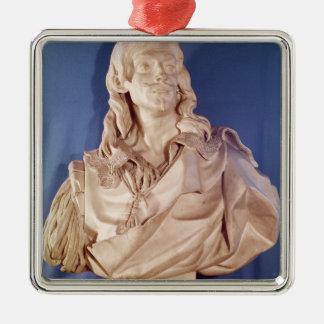 Bust of Jean de Rotrou  1783 Silver-Colored Square Decoration