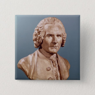 Bust of Jean-Jacques Rousseau 15 Cm Square Badge