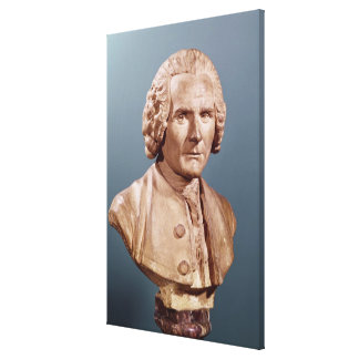 Bust of Jean-Jacques Rousseau Canvas Print