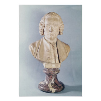 Bust of Jean-Jacques Rousseau Poster