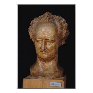 Bust of Johann Wolfgang von Goethe , 1831 Poster