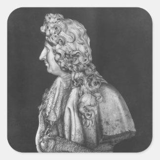 Bust of Jules Hardouin Mansart, 1698 Square Sticker