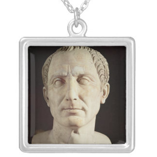 Bust of Julius Caesar 2 Silver Plated Necklace