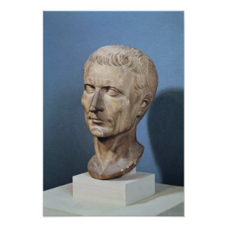 Bust of Julius Caesar Poster