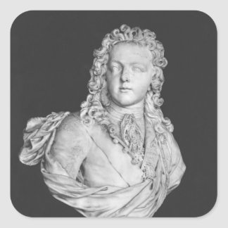 Bust of Louis XV  1719 Square Sticker