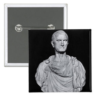 Bust of Marcus Licinius Crassus 15 Cm Square Badge