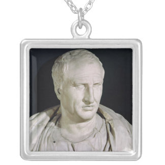 Bust of Marcus Tullius Cicero Silver Plated Necklace