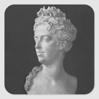 Bust of Marie-Adelaide de Savoie Square Sticker