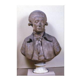 Bust of Marie Jean Antoine Nicolas Canvas Print
