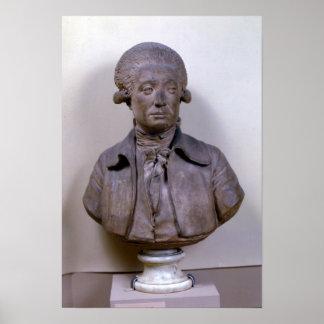 Bust of Marie Jean Antoine Nicolas Poster