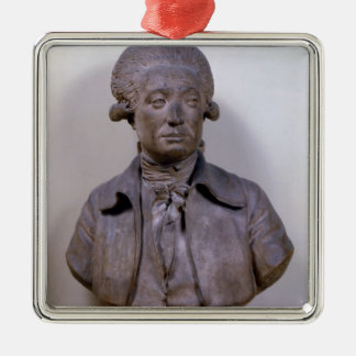 Bust of Marie Jean Antoine Nicolas Silver-Colored Square Decoration