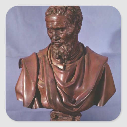 Bust of Michelangelo Buonarroti Sticker