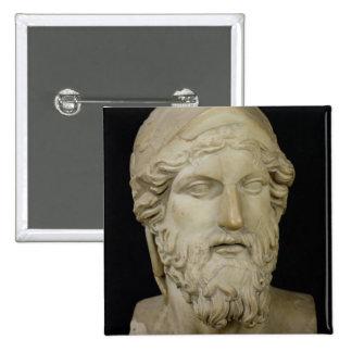 Bust of Miltiades  480-336 BC 15 Cm Square Badge