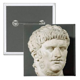 Bust of Nero 15 Cm Square Badge