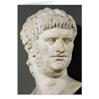 Bust of Nero Greeting Cards