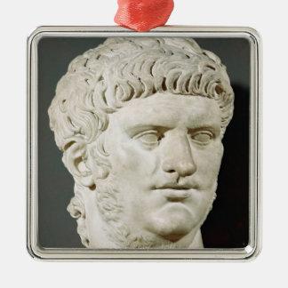 Bust of Nero Silver-Colored Square Decoration
