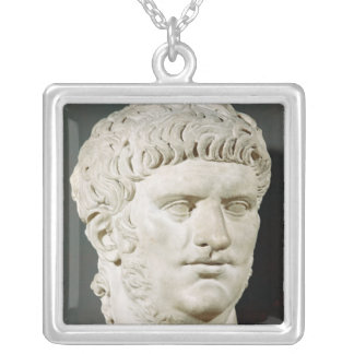 Bust of Nero Square Pendant Necklace