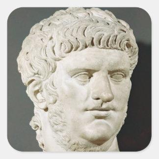 Bust of Nero Square Sticker