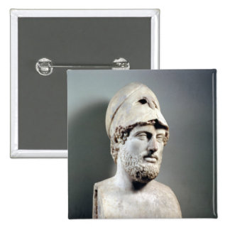 Bust of Pericles  copy of a Greek original 15 Cm Square Badge